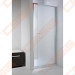 Varstomos vieno elemento dušo durys JIKA CUBITO PURE 90x195, kairė/dešinė, su blizgaus sidabro profiliu ir skaidriu stiklu