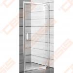 Varstomos vieno elemento dušo durys JIKA LYRA PLUS 90x190, kairė/dešinė, su baltos profiliu ir skaidriu stiklu