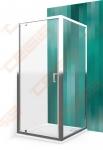 Dušo sienelė  ROTH LLB/900 su brillant spalvos profiliu ir skaidriu stiklu