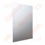 Veidrodis JIKA Clear aliuminio rėmas