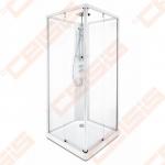 Galinė dalis dušo bokso Ido 90x90, matinė su aliuminio profiliu