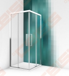 Dušo durys ROTH ECS2P/90 (brilliant/skaidrus)