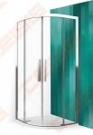 Pusapvalė dušo kabina ROLTECHNIK EXCLUSIVE ECR2N blizgaus chromo (Brilliant) spalvos profilis + skaidrus (Transparent) stiklas