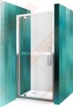 Varstomos dušo durys ROTH ECLUSIVE LINE ECDO1N/900 juodos spalvos profilis + skaidrus (Transparent) stiklas