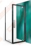 Šoninė dušo sienelė ROTH EXCLUSIVE LINE ECDBN/800 blizgaus chromo (Brilliant) spalvos profilis + skaidrus (Transparent) stiklas
