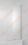 Vonios sienelė Jika Cubito 75 x 140 cm, kairinis modelis, 1 dalies, JIKA perla GLASS, skaidrus stiklas