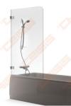 Vonios sienelė Baltijos Brasta Gaja 750 x 1500, skaidrus stiklas
