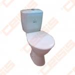 Kombinuotas pastatomas unitazas JIKA Norma/Rigo su bakeliu stačiu nubėgimu, horizontaliu nuotaku, su Dual Flush 6/3 l nuleidimo mechanizmu, šoniniu vandens įvadu, su termoplastikiniu dangčiu