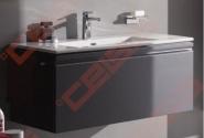 Praustuvo ir spintelės su stalčiumi bei vidiniu stalčiuku komplektas Laufen Pro S, matmenys 1000x500x460, spalva - grafito