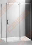 Šoninė dušo sienelė ROTH AMBIENT LINE AMB/80 su brillant spalvos profiliu ir skaidriu stiklu. Sienelė skirta derinti su slankiojančiomis dušo durimis Ambient Line AMD2.