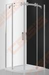 Pusapvalė dušo kabina ROTH AMBIENT LINE AMR2N/100 su dviejų elementų slankiojančiomis durimis, brillant spalvos profiliu ir skaidriu stiklu