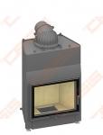 Plieninis židinio ugniakuras SCHMID LINA W 6751 S (750 x 1333 x 540); 14,5kW; (šilumokaitis 6-14,5kW)