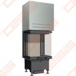 Plieninis židinio ugniakuras SCHMID EKKO U 45(34)45 H (450 x 1280 x 448); 4kW