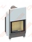 Plieninis židinio ugniakuras SCHMID LINA 4557 H (540 x 1380 x 520); 3,4-7,8kW