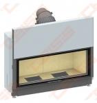 Plieninis židinio ugniakuras SCHMID LINA 12045 H (1290 x 1040 x 520); 4,9-10,6kW