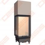Plieninis židinio ugniakuras SCHMID EKKO L 45(45)80 H (510 x 1565 x 530); 3,2-7,1kW