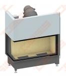 Plieninis židinio ugniakuras SCHMID EKKO L 100(45)45 H (1060 x 1140 x 530); 4,1-9,4kW, vientisas stiklas