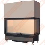 Plieninis židinio ugniakuras SCHMID EKKO R 100(45)45 H (1060 x 1140 x 530); 4,1-9,4kW