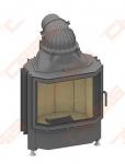 Plieninis židinio ugniakuras SCHMID PANO 6751 S (670 x 1155 x 545); 3,3-8,7kW