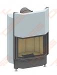Plieninis židinio ugniakuras SCHMID PANO 6745 H (730 x 1140 x 550); 3,3-8,7kW