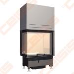 Plieninis židinio ugniakuras SCHMID EKKO R 55(34)45 H ; 5kW