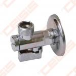 "Žalvarinis chromuotas (blizgus) SLOVARM TE-66F rutulinis ventilis su filtru Dn1/2"""