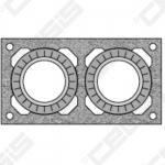 Blokelis RP dvigubas įdėklams, L=330 mm