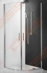 Pusapvalė dušo kabina ROTH TOWER LINE TR1/90 su dviejų elementų atveriamomis durimis, sidabro spalvos profiliu ir skaidriu stiklu