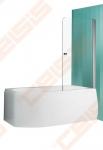 Vonios sienelė ROTH TV1/80 su sidabro profiliu ir skaidriu stiklu