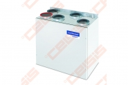 Įrenginys su rotaciniu šilumokaičiu Domekt-R-200-L-V-EC-C4.1 vertikalus kairinis