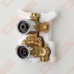 Sienoje montuojamo termostatinio vonios ir dušo maišytuvo korpusas ORAS Optima