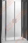 Dviejų elementų varstomos dušo durys ROTH TOWER LINE TDN2/110, skirtos montuoti į nišą arba derinti su šonine siena, su sidabro spalvos profiliu ir skaidriu stiklu