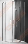 Pusapvalė dušo kabina ROTH TOWER LINE TR2/1000 su dviejų elementų atveriamomis durimis, brillant spalvos profiliu ir skaidriu stiklu