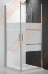 Vieno elemento varstomos dušo durys ROTH TOWER LINE TCO1/80 su sidabro spalvos profiliu ir skaidriu stiklu