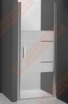 Vieno elemento varstomos dušo durys ROTH TOWER LINE TCN1/100 skirtos montuoti į nišą su brillant spalvos profiliu ir skaidriu stiklu