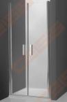 Vieno elemento varstomos dušo durys ROTH TOWER LINE TCN2/90 skirtos montuoti į nišą su brillant spalvos profiliu ir skaidriu stiklu