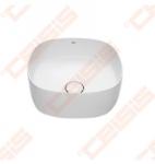 Praustuvas-dubuo ROCA Inspira Soft Ø37 su keraminiu dangteliu, be perlajos, be angos maišytuvui, baltas