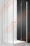 Lankstomos dušo durys ROTH TOWER LINE TZOP1/90 su brillant spalvos profiliu ir skaidriu stiklu (dešinė)