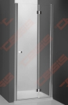 sulankstomos dušo durys nišai Roth  TZNP1/1000 blizgiu profiliu, skaidriu stiklu.