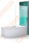 Vonios sienelė ROTH TZVP2/1000 su specialia lankstų sistema, brillant profiliu ir skaidriu stiklu