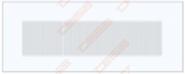 Grotelės LINE Baltos 350x130 mm