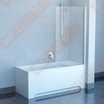 Vienos dalies stabili vonios sienelė RAVAK PVS1-80 su skaidriu stiklu