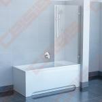 Sulankstoma vienos dalies stabili vonios sienelė RAVAK BVS1-80 su chromuotom detalėm ir skaidriu stiklu, dešinė pusė