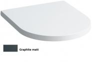 Dangtis unitazui Kartell by Laufen, su lėto užsidarymo funkcija, spalva - graphite matinė