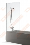 Vonios sienelė Baltijos Brasta Mija 90x150, skaidrus stiklas