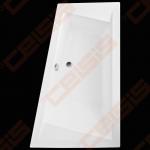 Kampinė asimetrinė vonia ROTH KUBIC ASYMMETRIC (L) 160x103 cm