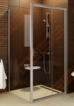Stacionari dušo sienelė RAVAK BLIX BLPS-80 su baltos spalvos profiliu  ir skaidriu stiklu