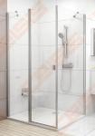 Stacionari dušo sienelė RAVAK CHROME CPS-80 su satino spalvos profiliu ir skaidriu stiklu