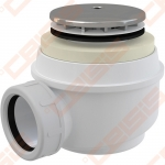 Dušo padėklo sifonas ALCA PLAST, chromas, 60 mm (45l/min)