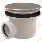 "Dušo padėklo ""LUX"" sifonas ALCA PLAST su metaliniu ventiliu, 90 mm (28l/min)"